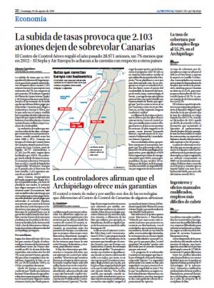 La Provincia, edición Las Palmas (10/08/2014)
