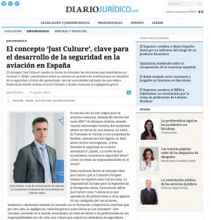 270814 DiarioJuridico_Just Culture