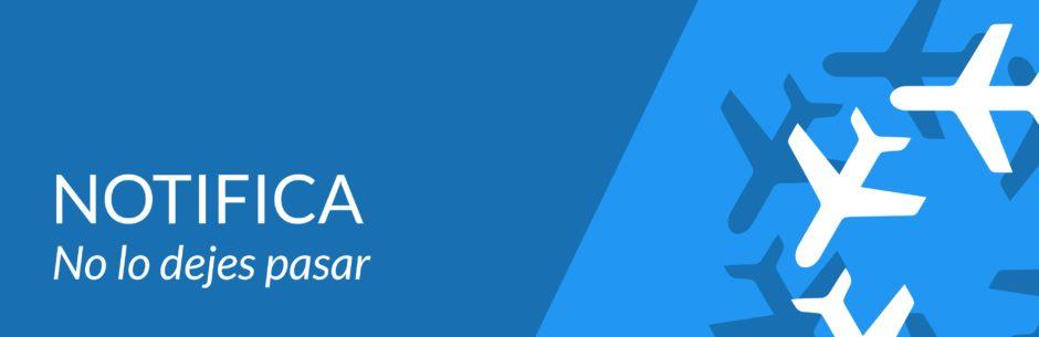 Enviar notificaciones de seguridad a APROCTA-