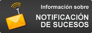 Información sobre notificación de sucesos
